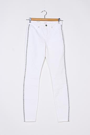 Pantalon casual blanc CAMAIEU pour femme