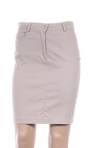 Jupe courte beige CHIQUITA pour femme
