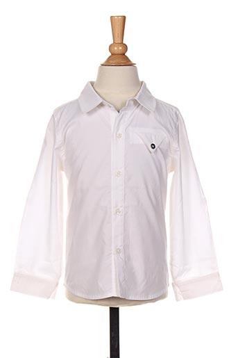 Chemise manches longues blanc 3 POMMES pour garçon