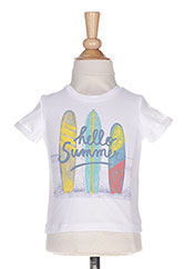 T-shirt manches courtes blanc ABSORBA pour garçon seconde vue