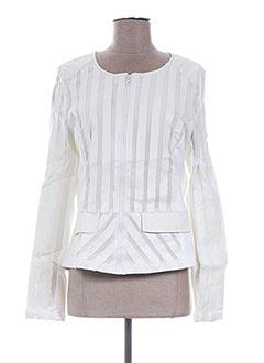 Veste chic / Blazer blanc L33 pour femme