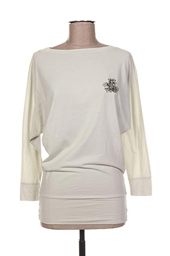 T-shirt manches longues gris ED HARDY pour femme