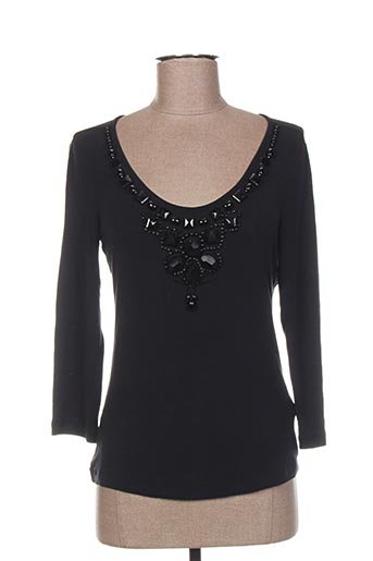 T-shirt manches longues noir CARACTERE pour femme