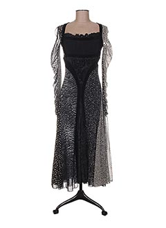 Robe longue noir FUZZI pour femme