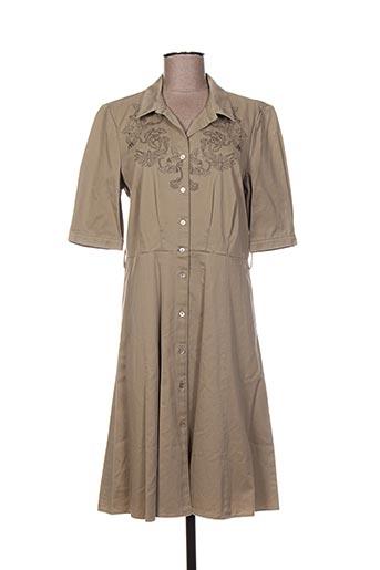 Robe mi-longue beige ARMAND VENTILO pour femme
