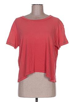 T-shirt manches courtes rouge CURRENTE/ELLIOTT pour femme