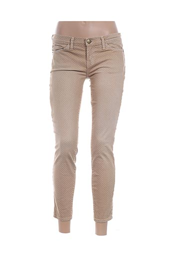Pantalon casual beige CURRENTE/ELLIOTT pour femme