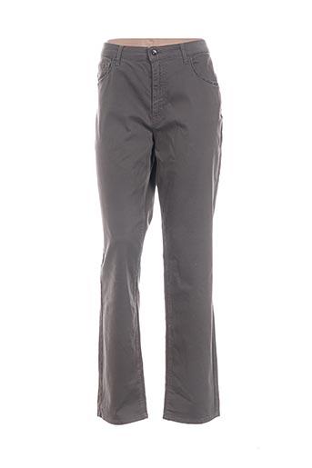 Pantalon casual gris ITALO WOMAN pour femme