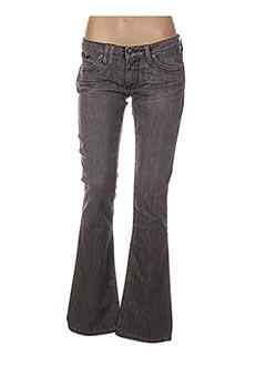 Jeans bootcut gris ROBIN'S JEAN pour femme