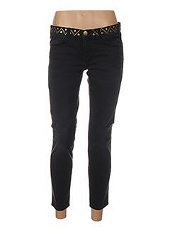 Jeans coupe slim noir CURRENTE/ELLIOTT pour femme