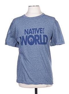 T-shirt manches courtes bleu GOLDEN GOOSE DELUXE BRAND pour homme