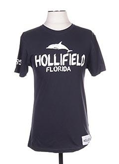T-shirt manches courtes bleu HOLLIFIELD pour homme