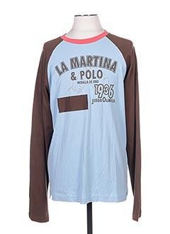 T-shirt manches longues bleu LA MARTINA pour homme