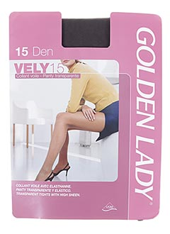Collants gris GOLDEN LADY pour femme