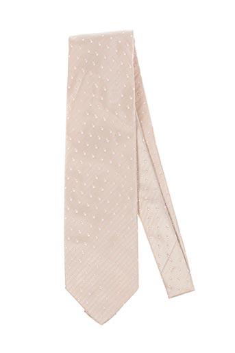 Cravate beige GIAN ALBERTO CAPORALE pour homme
