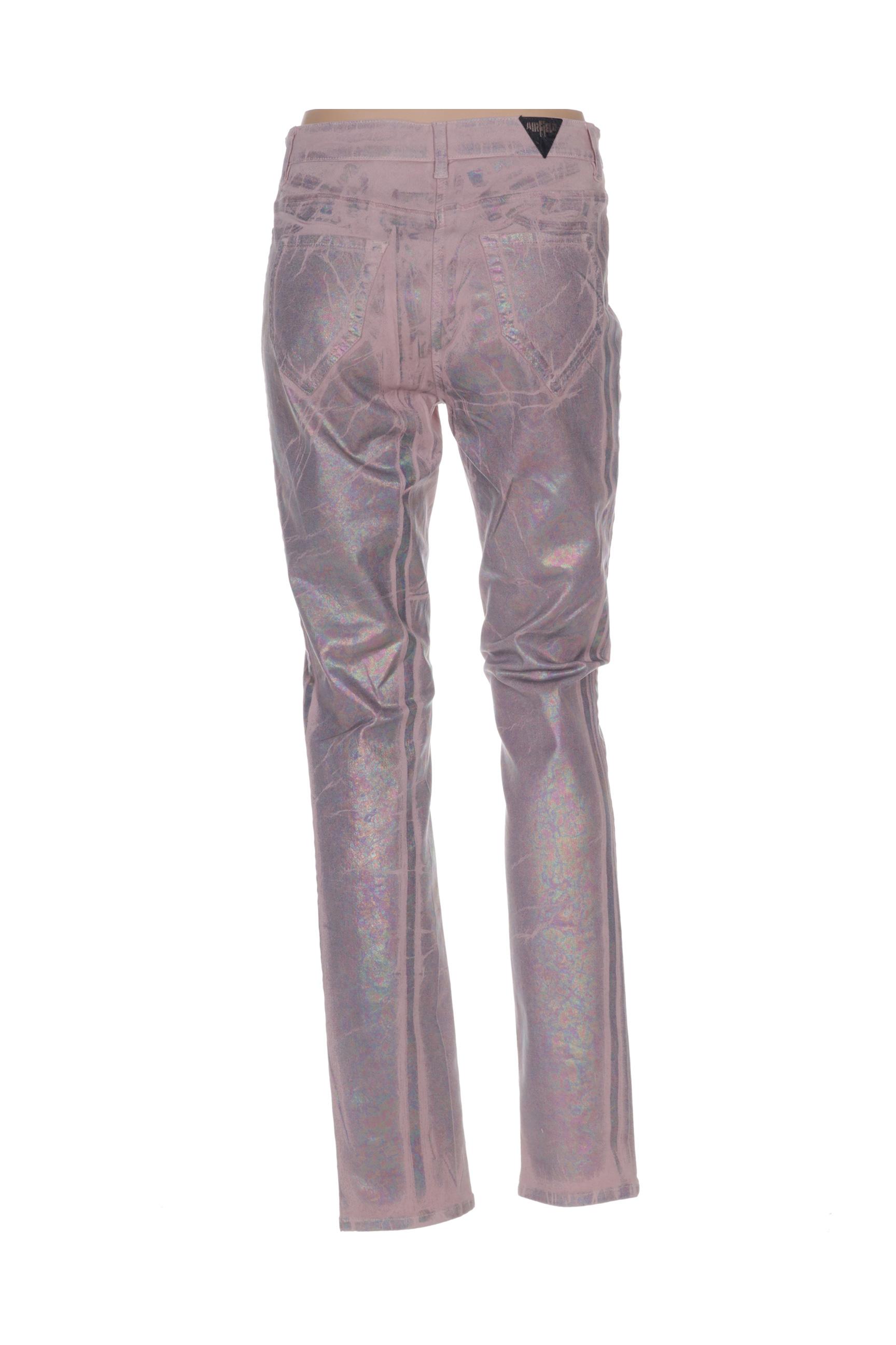 Airfield Pantalons Decontractes Femme De Couleur Rose En Soldes Pas Cher 1319163-rose00