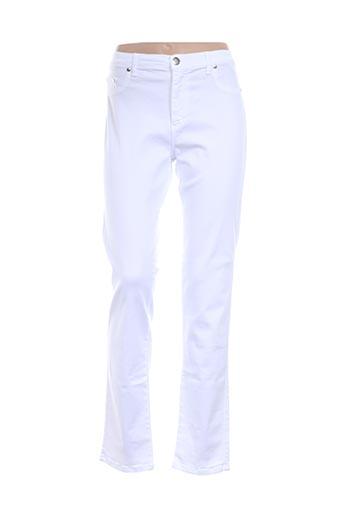 Pantalon casual blanc CRN-F3 pour femme
