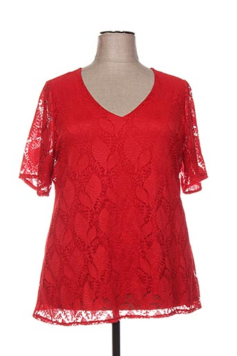 Top rouge DEOMINO pour femme