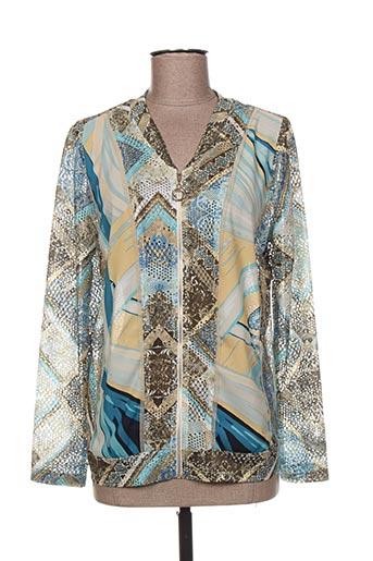 Veste casual bleu AN II VITO pour femme