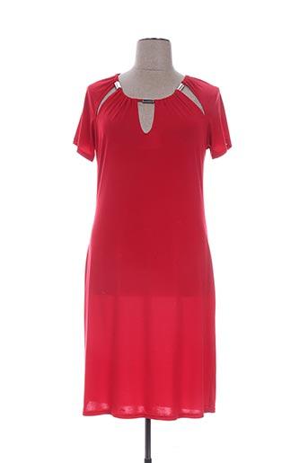 Robe mi-longue rouge DEOMINO pour femme