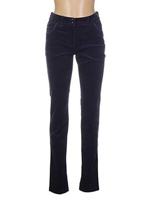 Pantalon casual bleu BRUNO ANTOGNINI pour femme