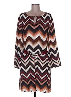 Robe mi-longue marron CAROLINE BISS pour femme
