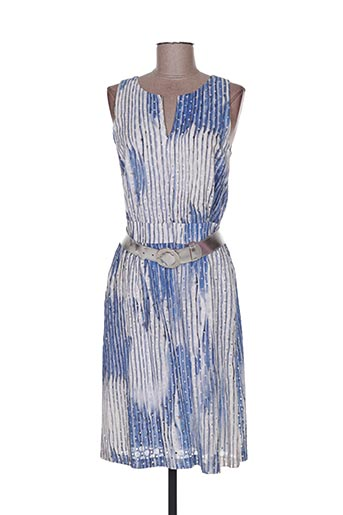 Robe mi-longue bleu CAROLINE BISS pour femme