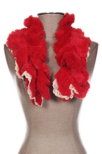 Echarpe rouge VIA LORENZO pour femme