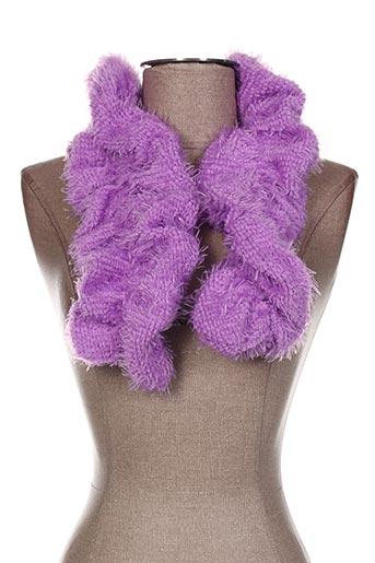 Echarpe violet VIA LORENZO pour femme