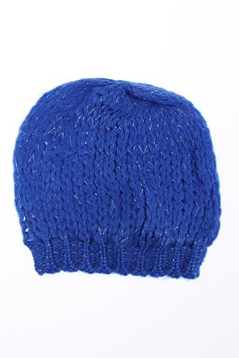 Bonnet bleu PALME pour femme