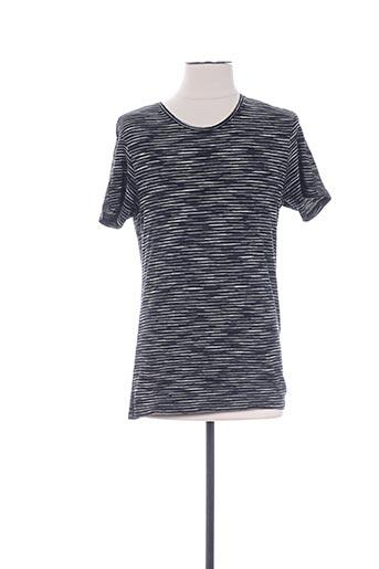 T-shirt manches courtes noir IKKS pour homme