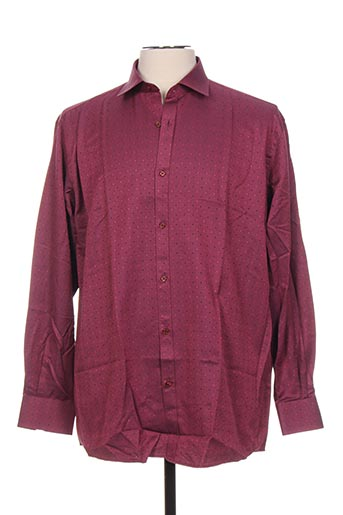 Chemise manches longues rose GIORGIO BELLINI pour homme