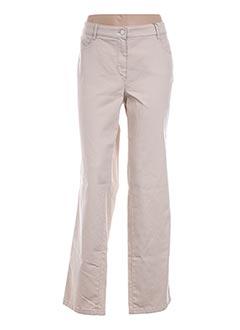 Jeans coupe droite beige BASLER pour femme