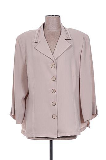 Veste chic / Blazer beige COSTURA 40 pour femme