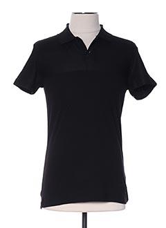 Polo manches courtes noir ARMITA pour homme