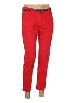 Pantalon 7/8 rouge SCOTCH & SODA pour femme