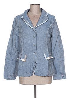 Veste en jean bleu VIRGINIE & MOI pour femme