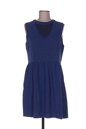 Robe courte bleu AMY LOU pour femme