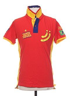 T-shirt manches courtes rouge JN-JOY pour garçon