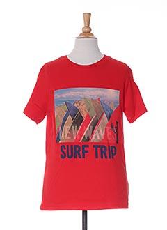 T-shirt manches courtes rouge NUKUTAVAKE pour garçon