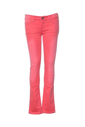 Jeans coupe slim rouge JN-JOY pour fille