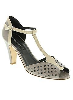 Sandales/Nu pieds gris GAIA D'ESTE pour femme