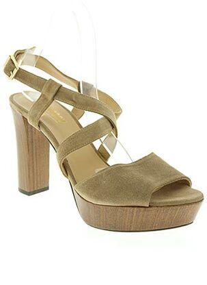 Sandales/Nu pieds marron AUGUSTE pour femme