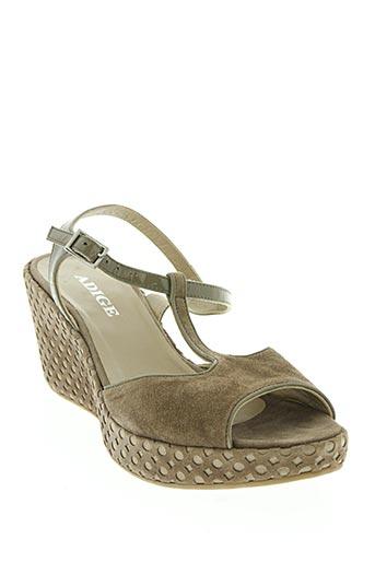 Sandales/Nu pieds marron ADIGE pour femme