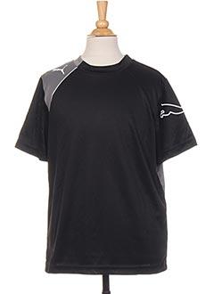 T-shirt manches courtes noir PUMA pour garçon