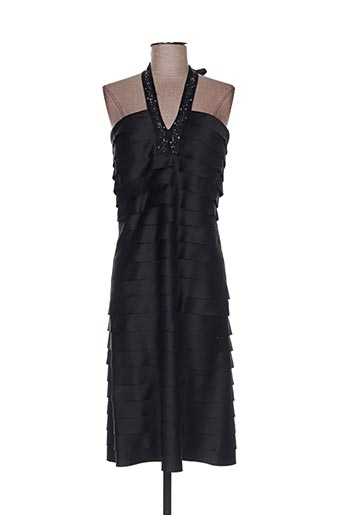 Robe mi-longue noir CLAUDIA GIL pour femme