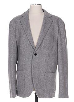 Veste casual gris SELECTED pour homme