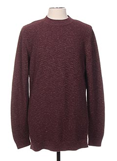 Pull col rond violet SELECTED pour homme
