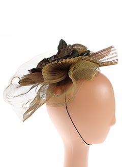 Chapeau marron JULIE PERLOUZE pour femme