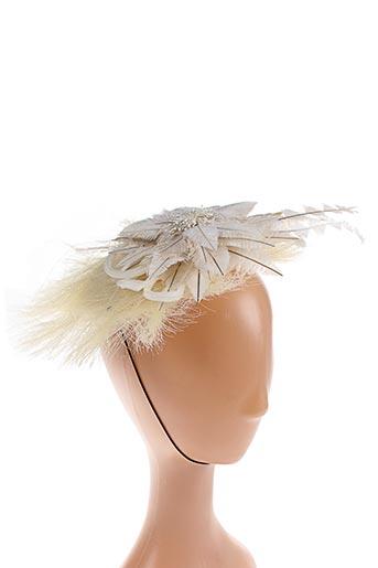 Chapeau beige ANGIOLO FRASCONI pour femme